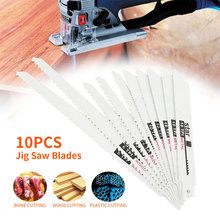 10pcs Jig Saw Blades Reciprocating Saw Blade Hand saw Saber Saw blade For Wood Metal Reciprocating Saw Power Tools Accessories