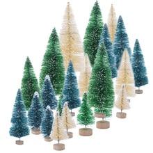 5 шт. 5 размер искусственная декорированная Мини Рождественская елка Рождественское украшение елка Рождественская мини поддельная елка новогодний декор Navidad