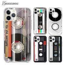 Transparent Clear TPU Cover Classical Old Cassette for iPhone 11 11Pro XS MAX XR X 8 7 6S 6 Plus 5S Phone Case(China)