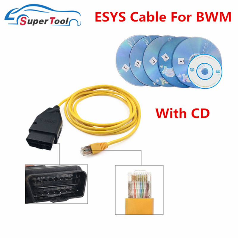 OBD Plug Adapter ESYS Date Cable For BWM ENET OBD2 E-SYS ENET ICOM Coding For F-Series Car Diagnostic Tool Cable For BMW ESYS(China)
