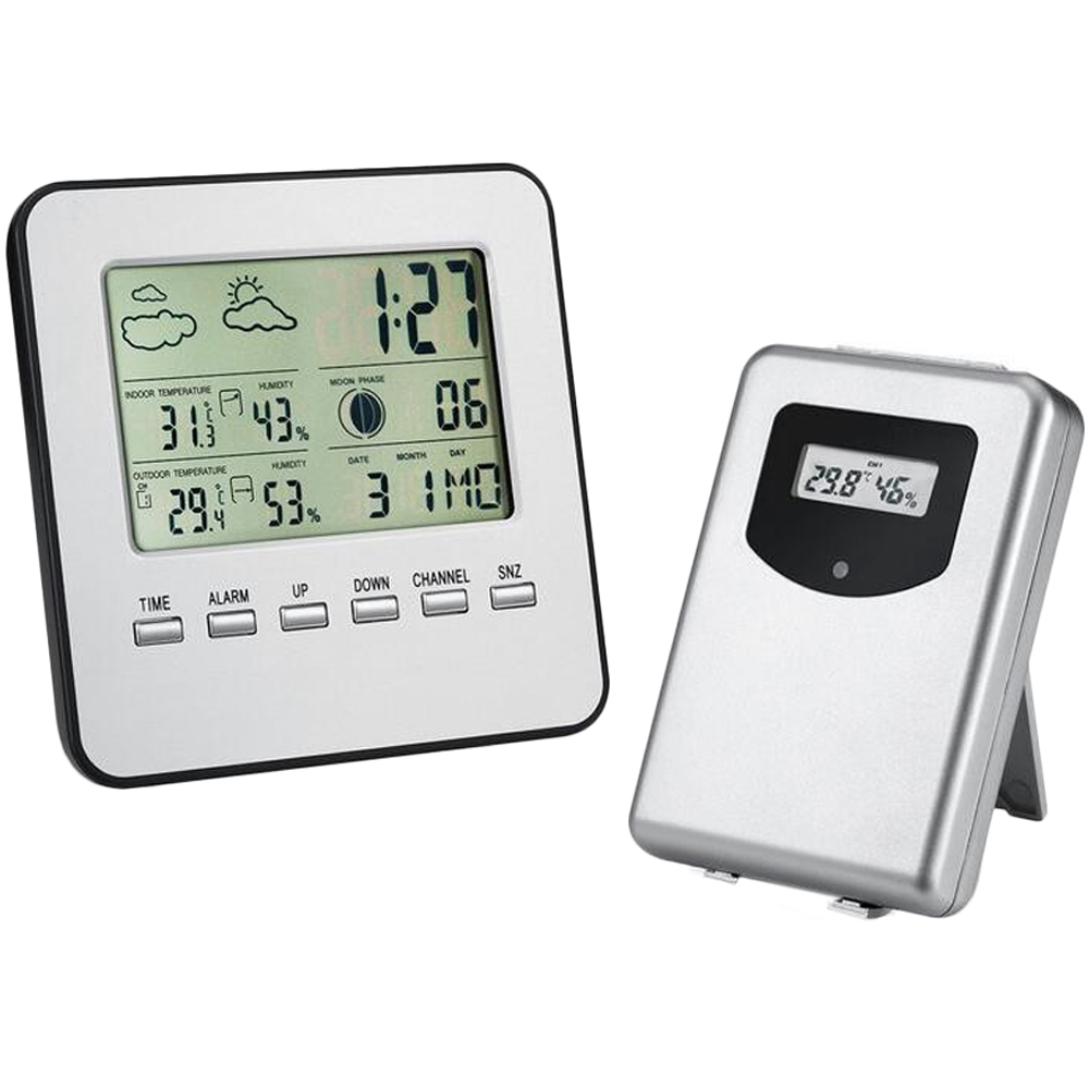 Upgraded Weather Station, Wireless Digital Indoor Outdoor Thermometer Hygrometer, Remote Sensor, Home Weather Forecaster Station