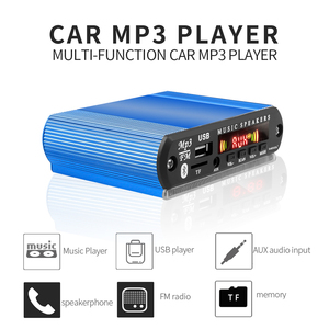 Image 2 - Recording Bluetooth5.0 Receiver 12V Car Kit MP3 Player Decoder Board Color Screen FM Radio TF USB 3.5 Mm AUX Audio For Iphone