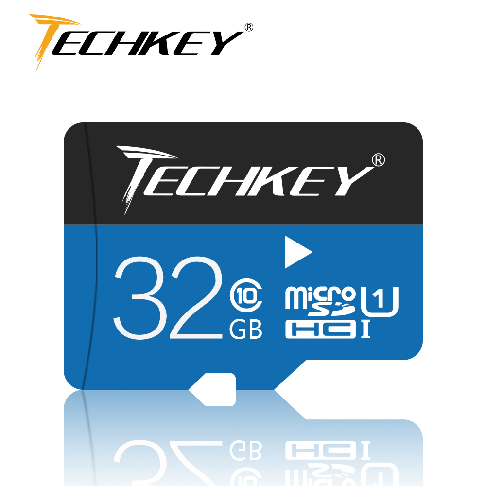 2018 New Memory Card Techkey 100%real Capacity For SmartPhone/Camera 32GB 64GB 16GB 8GB 4GB Class10 Pass H2test Microsd TF Card