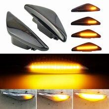2 pçs fumaça dinâmica fluindo led lado marcador luz de sinal para bmw x5 e70 x6 e71 e72 x3 f25 lâmpada pisca sequencial