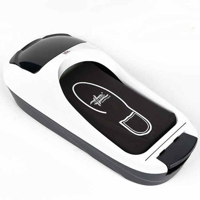 $ US $92.70 Automatic Shoe Cover Machine One-time Membrane Dispenser Office Home Factory Shoe Film Machine Disposable Shoe Polishing Machine