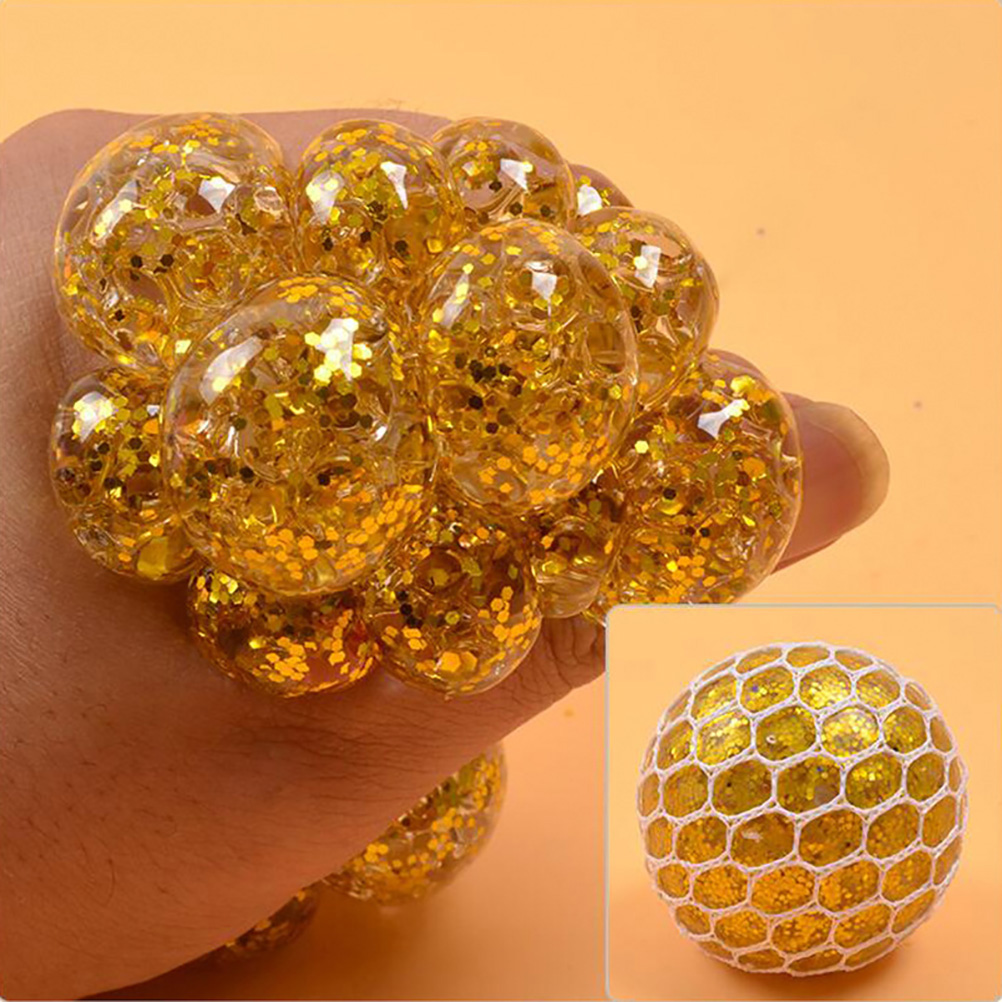 Balls Hand-Fidget-Toy Squeeze-Ball Stress Relief Relieve-Pressure-Balls Rainbow Mesh img2