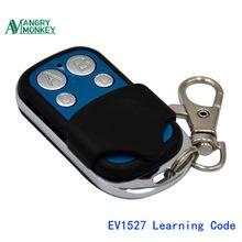 433 mhz rf controle remoto 1527 ev1527 código de aprendizagem para portão porta da garagem controlador interruptor luz 433 mhz receptor com bateria