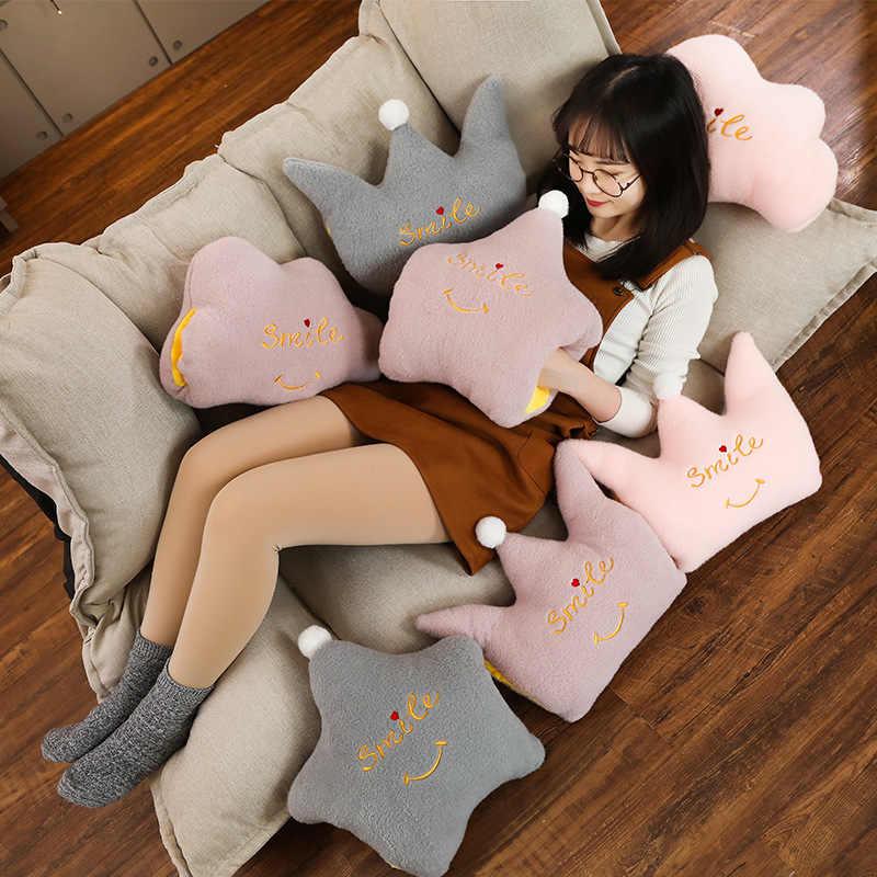 Nizza Wolke Crown Sterne Form Plüsch Weichen Sofa Kissen Warme Hand Kissen Plüsch Spielzeug Puppen Kinder Baby Kinder Mädchen Geburtstag geschenke