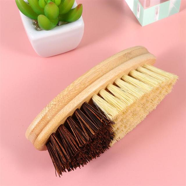 Wooden Sisal Hemp Brush Oilproof Cleaning Brush Pot Pan Dish Scrubber Kitchen Utensil Cleaner Bathroom Cleaning Tool 2