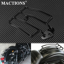 Motorcycle Rear Solo Seat Luggage Rack Support Shelf Gloss Black For Harley Sportster Iron 48 XL883 XL1200 2004-2017 2018 2019