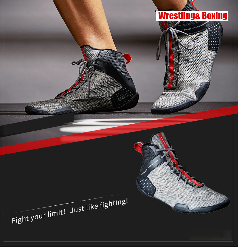 Men Professional Boxing Wrestling Fighting Boots Mesh Breathable Wearable Supporting Big Boys Training Boxing Shoes
