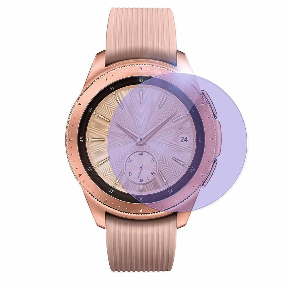 1x Anti Blauw licht Gehard Glas Screen Protector Volledige Cover Film Voor Samsung Galaxy Horloge (46mm/42 mm) smart watch Accessoires