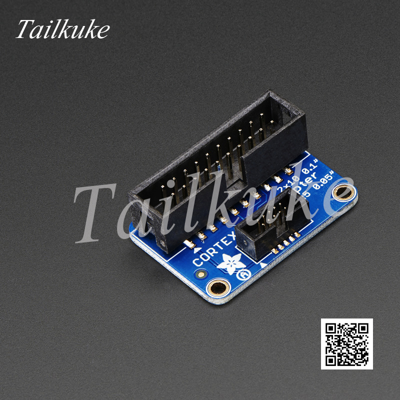 2pcs/lot JTAG Adapter Board 20-pin 2.54mm To 10-pin 1.27mm Support JLINK SWD