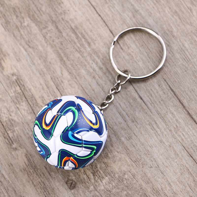 Football Fans Gift Soccer Ball Keychain Key Ring Soccer Sports Fan Party Souvenir World Cup Favor Club Handbag Phone Pendant