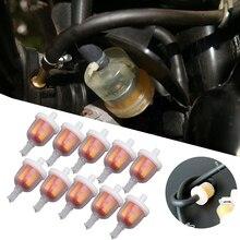 """1/"""" мотоциклетные газовые топливные фильтры мото масляный фильтр для скутера мопеда скутера мотоцикла дит велосипеда ATV картинг масляный топливный фильтр"""
