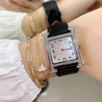 Luxury Top Brand 26mm Dial Crocodile Leather 112 Pieces Of Zircon Dial Quartz Wrist Women Watch