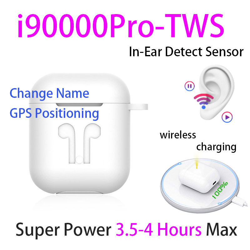 Original i90000 Pro TWS 1:1 In-ear Blutooth Earphone Mini Wireless Sport Headsets Headphones Stereo Earbuds elari PK Aire 2 3