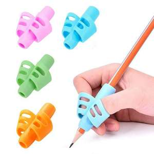 3pcs Children Writing Pencil Pan Holder Kids Learning Practise Silicone Pen Aid Grip Posture Correction Device for Students