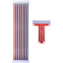 Ahududu Pi 4 B 3 aksesuarları kiti GPIO T tipi genişletme kartı + 65 adet aktarma kabloları + 400 delik/kravat puan Breadboard Pcb kartı