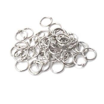 50Pcs/lot Staple Book Binder 20mm Outer Diameter Loose Leaf Ring Keychain Circlip Ring 50pcs lot irfr5505trpbf fr5505