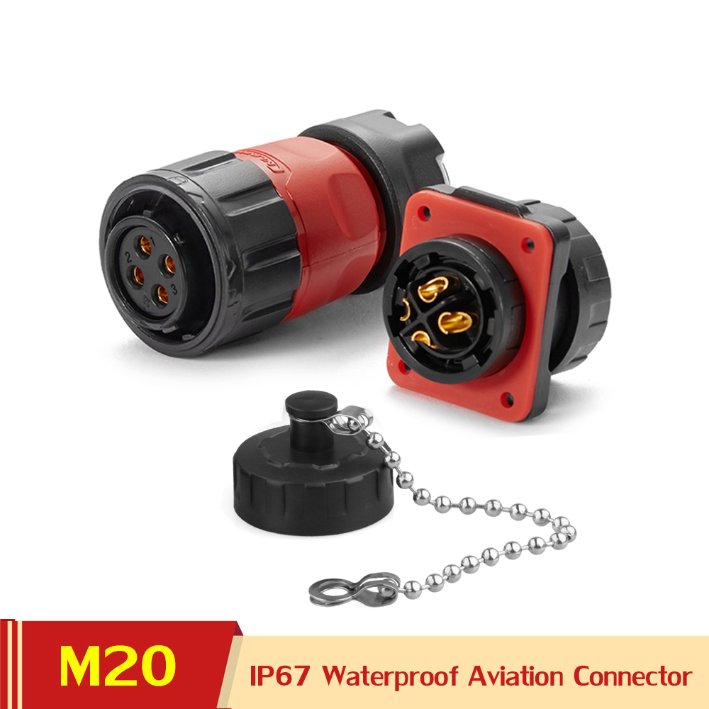 M20 <font><b>2</b></font> 3 <font><b>4</b></font> 5 7 9 12 <font><b>PIN</b></font> Power Aviation Connector Female Plug Wiring Hardness Quick-Connect Electronic Outdoor Waterproof Adapter image