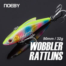 Noeby Rattlins Wobblers Fishing Lure 90mm 33g Sinking VIB Crankbaits Rattling Artificial Hard Bait for Pike Trout Fishing Lure