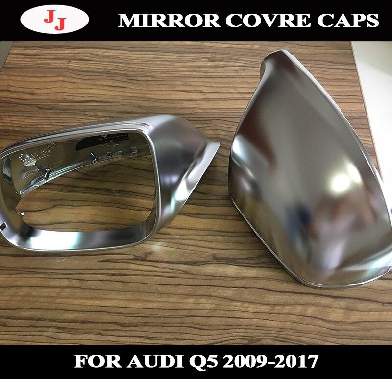 Audi Q5 SQ5 8R Matt Chrome Sliver Mirror Caps