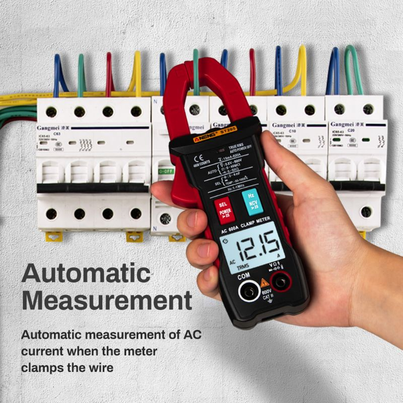 ST205 Digital Clamp Meter Analog Multimeter Current Clamp DC/AC Intelligent AUTO range meter with temperature tester63HF|Clamp Meters| |  - title=