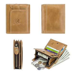 Image 4 - BULLCAPTAIN Men Wallet Genuine Leather Mens Purse Design male Wallets With Zipper Coin Pocket Card Holder Luxury Wallet