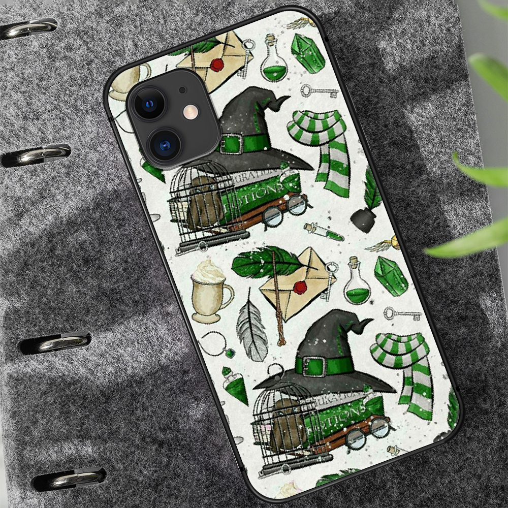 Harries Potter Phone Case Cover Hull For Iphone 5 5S Se 2020 6 6S 7 8 12 Mini Plus X XS XR 11 PRO MAX Black Waterproof Silicone