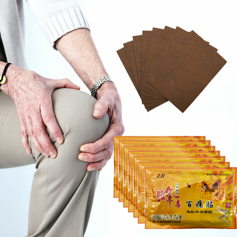 96pcs Chinese Medicines Bee Venom Balm Joint Pain Patch Neck Back Body Massage Relaxation Pain Killer Body Relax Plaster