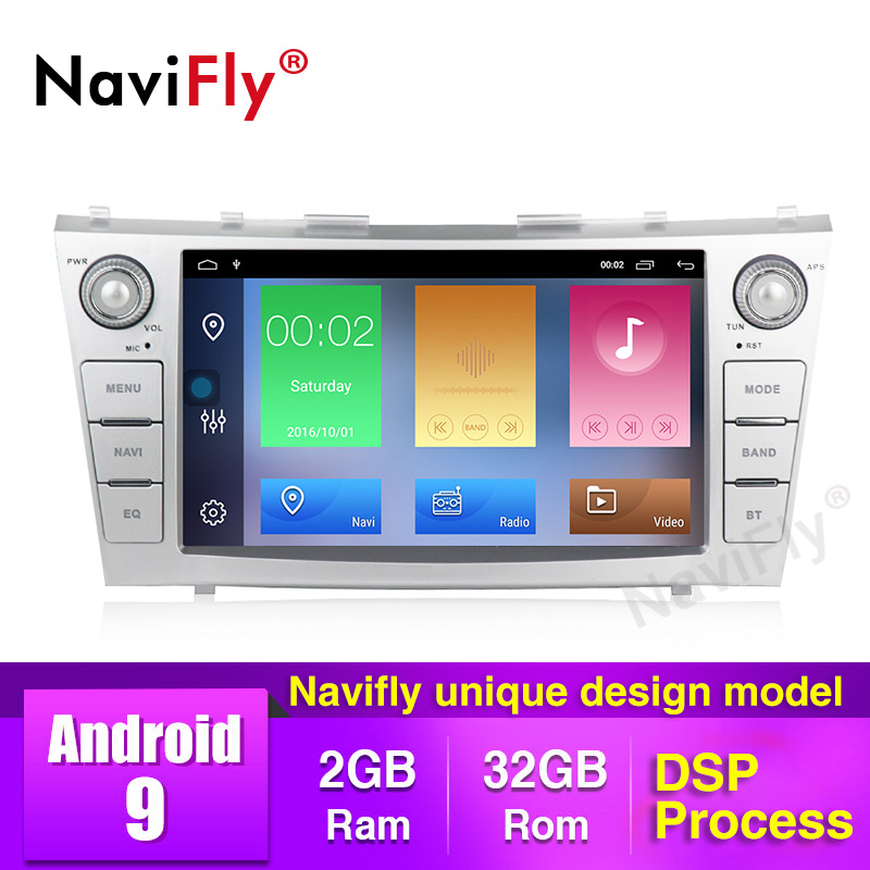 NaviFly Android9.0 Car Multimedia Player 2din autoradio for toyota camry 2007 2008 2009-2011with navigation car stereo head unit