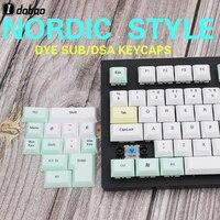 Nordic Character Dsa Keycaps Dye Sub Russian Keyboard PBT Spacebar Cherry Mx Gh60 Iso Custom Logitech Mechanical Gaming Keyboard