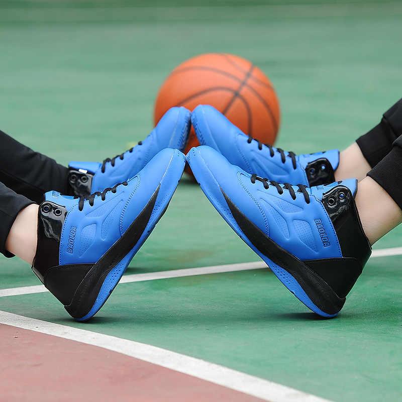 High-Topรองเท้าบาสเกตบอลผู้ชายผู้หญิงการกระแทกบาสเกตบอลรองเท้าผ้าใบZapatos Hombre Breathableกีฬากลางแจ้งรองเท้า