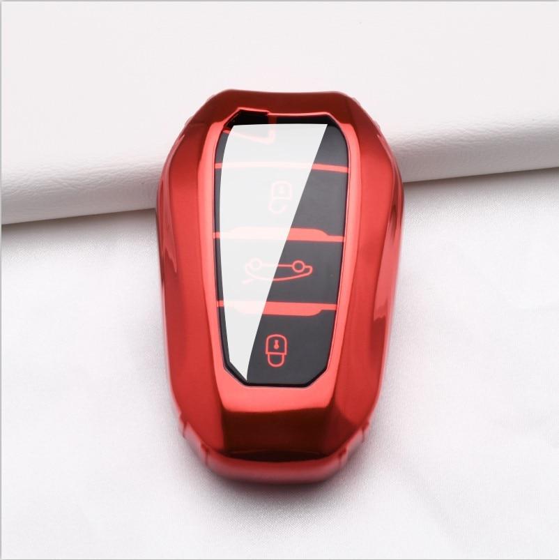 TPU ฝาครอบคีย์สำหรับ Peugeot 407 508 2008 301 5008 3008 4008 408 รถ Key Case 3 ปุ่มสำหรับ Peugeot 407 รถสมาร์ทกรณีป้องกัน