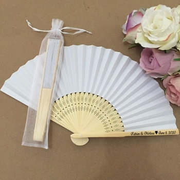 Free shipping 50pcs/lot Personalized Paper folding fan Wedding gift favor & home decorative fan hand held Party favors