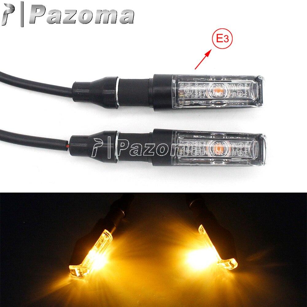 Motorcycle Amber Light LED Turn Signals For Honda Yamaha Suzuki Kawasaki Triumph Custom E-Mark Turn Indicators Blinker Lamp