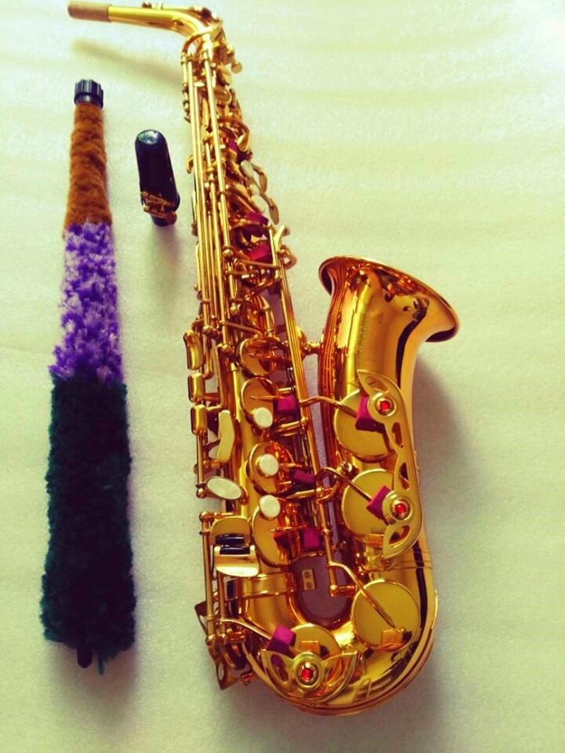 dourado plana instrumentos musicais profissional saxofone bocal e caso
