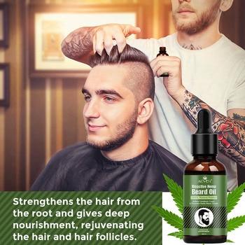 Hemp Oil Beard Growth Men's Beard Hair Growth Products Hair Conditioner Leave-In JIU55 6