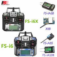 Flysky FS-i6X/FS-i6 2,4 GHz 10CH AFHDS 2A Sender w/X6B iA6b ich-BUS A8S FS-iA10B Empfänger für RC Drone Modus 1 Modus 2