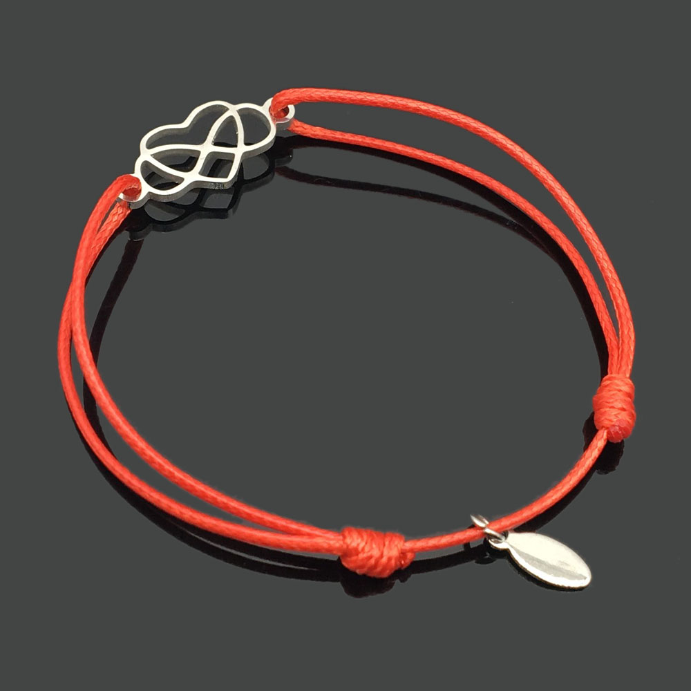 2 шт браслет желаний из нержавеющей стали, регулируемый шнур, хороший браслет, приносящий удачу, красный браслет дружбы