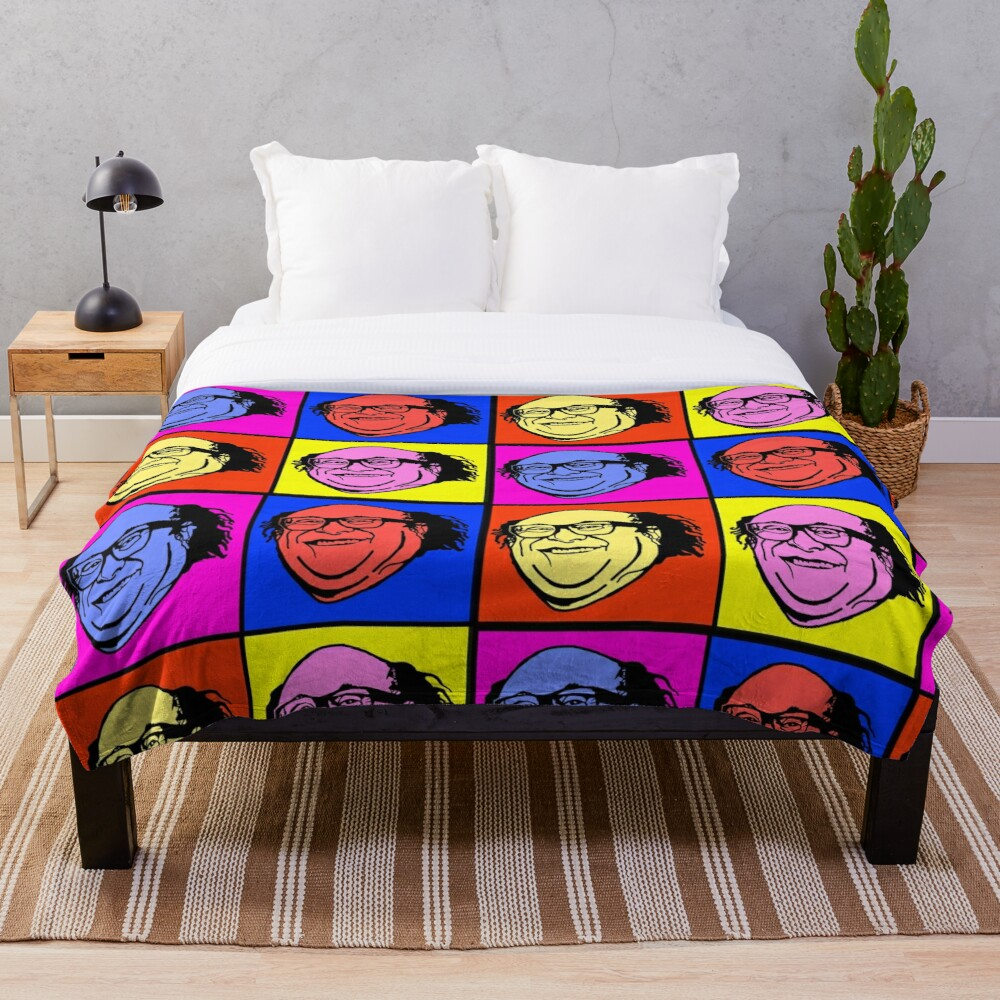 Danny DeVito Pop Art Throw Blanket Soft Sherpa Blanket Bed Sheet Single Knee Blanket Office Nap Blanket