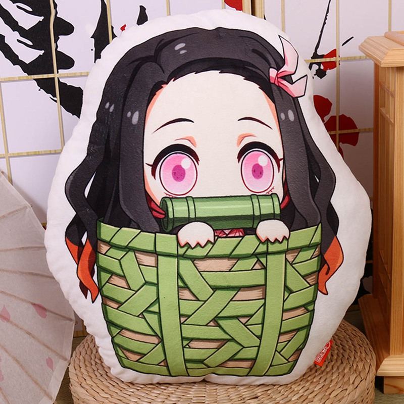 Anime Demon Slayer Cartoon Plush Doll Q Edition Pillow Stuffed Toy Cushion Christmas Gift