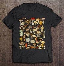 Homens Engraçados T Shirt Da Forma camiseta Micologia Forrageamento Fungos Cogumelo Das Mulheres t-shirt
