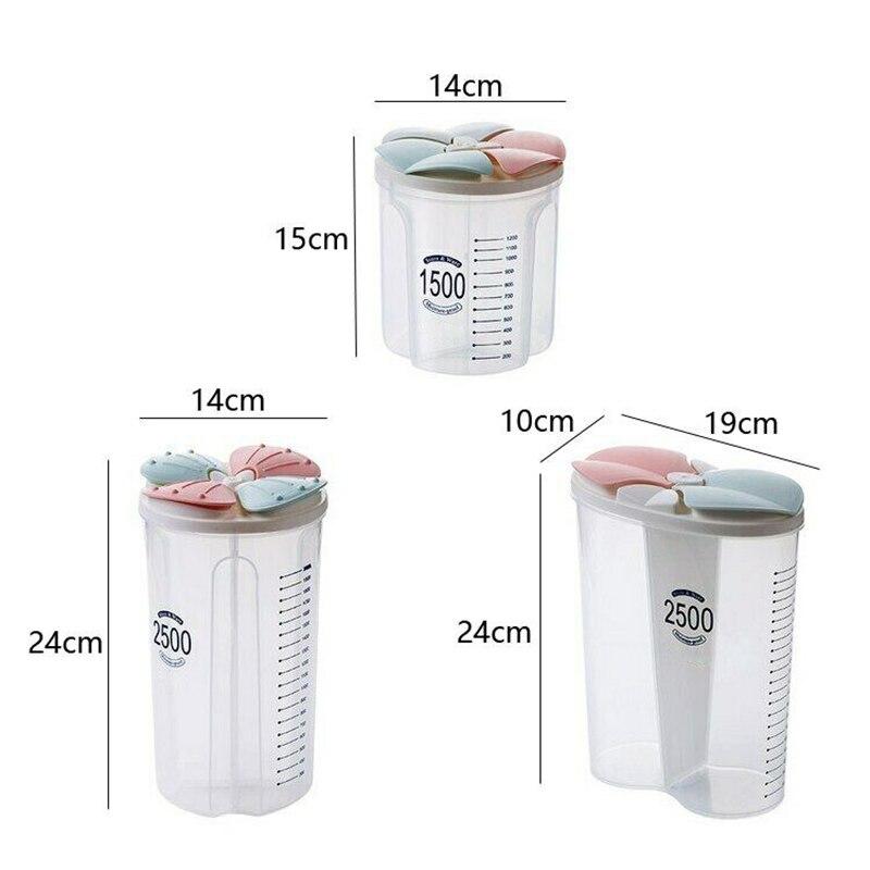 Здоровые контейнеры зерновые зерна сухая Емкость для хранения пищи Прозрачная крышка Пластиковый Чехол TUE88