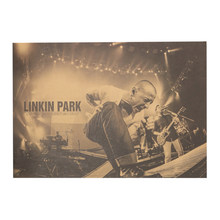 Nostalgico Rock Band Linkin Park B Style Kraft di Carta Cafe Bar Poster Retro Poster Pittura Decorativa muur adesivi(China)