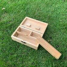 Натуральный Деревянный ящик для хранения сигарет cournot коробка