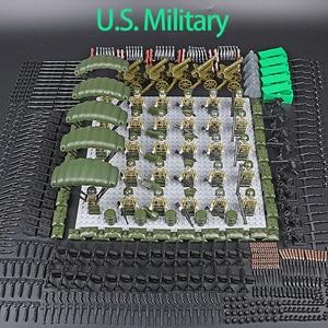 WW2 Series Mini Military Soldiers Figures Small Building Block World War 2 USA Soviet British Army Military MOC Brick Toys