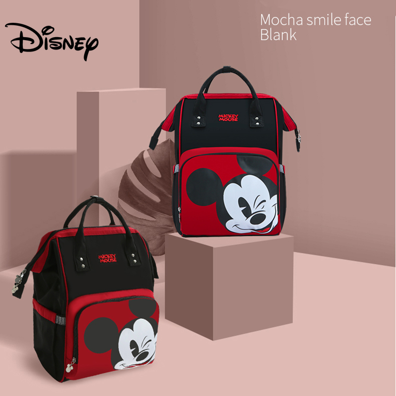 Disney Diaper Bag Backpack Baby Bags For Mom Mickey Minnie Wet Bag Fashion Mummy Maternity Diaper Organizer Travel USB Nappy
