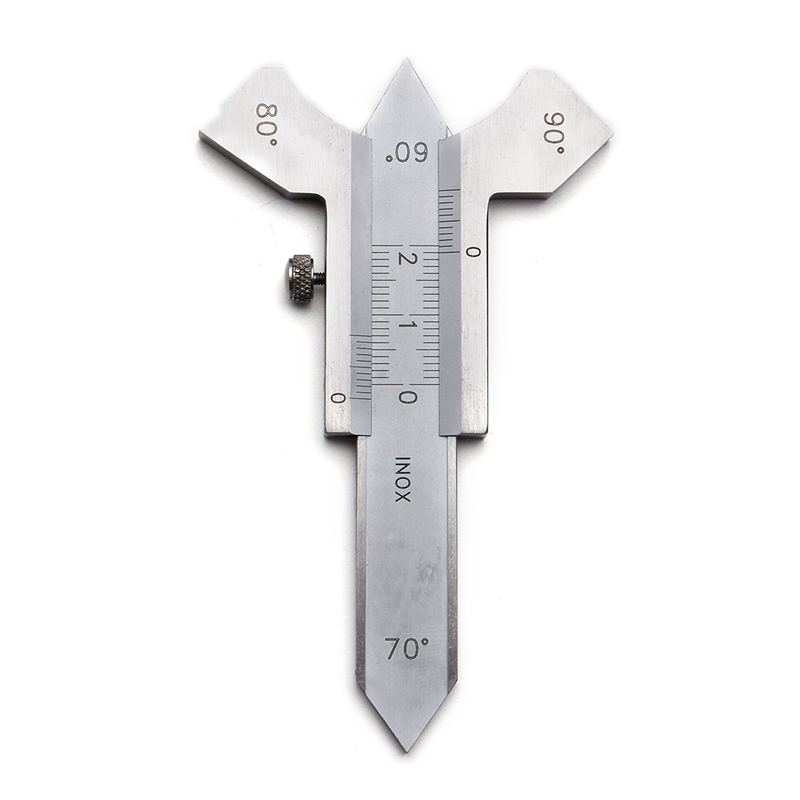 0-20Mm Steel Digital Welding Seam Measure Vernier Weld Gauge Weld Inspection Ruler 60 70 80 90 Degree Angle Measure